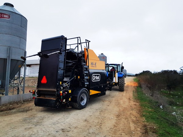 Orkel Hi-X Compactor being transported